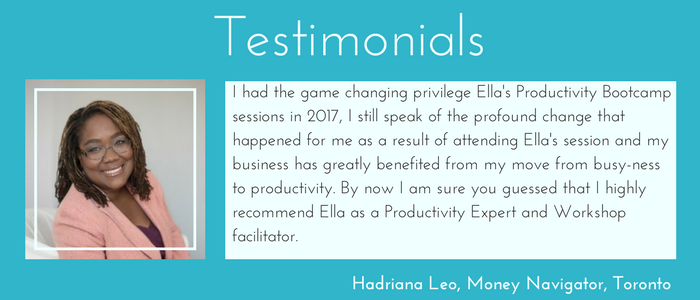Testimonial for Ella Bates